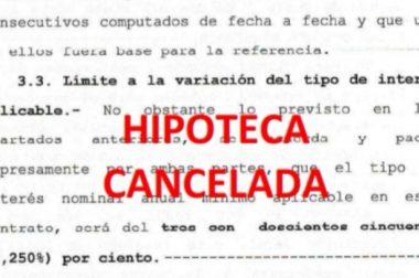 DEVOLUCIÓN DE LO PAGADO POR APLICACIÓN DE UNA CLÁUSULA NULA AUNQUE EL PRÉSTAMO HIPOTECARIO ESTÉ CANCELADO